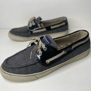 Sperry Top Sider 10 Wool Boat Shoes Bahama Grey